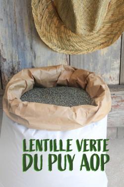 Lentilles vertes du Puy AOP...